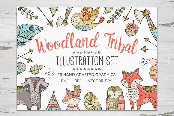 Woodland Tribal Illustration Set
