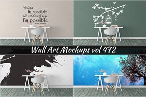 Wall Mockup - Sticker Mockup Vol 472