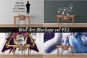Wall Mockup - Sticker Mockup Vol 473