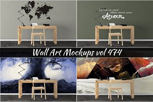 Wall Mockup - Sticker Mockup Vol 474