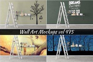 Wall Mockup - Sticker Mockup Vol 475