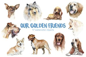 Watercolor dog breeds pack