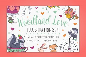 Woodland Love, Animal Illustrations