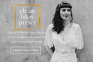 Clean B&W Wedding Portrait Presets