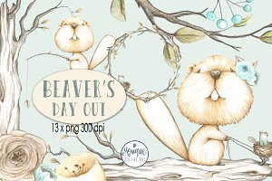 Beaver Clipart Watercolor