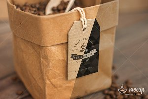 PSD Coffee Branding Paper Bag