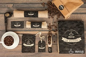 Mockup Coffee Branding Stationery