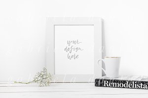 Book & Mug Smart Object Frame Mockup
