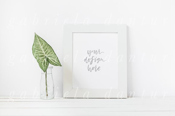 Green Leaf Smart Object Frame Mockup ~ Product Mockups ~ Creative Market