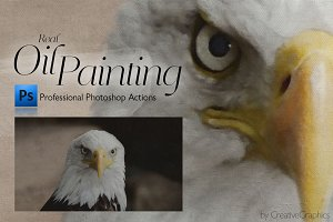 Real Oil Painting Photoshop Actions