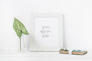 Leaf Book Stock Styled Frame Mockup