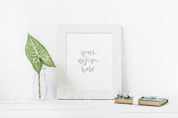 Leaf Book Stock Styled Frame Mockup ~ Product Mockups ~ Creative Market