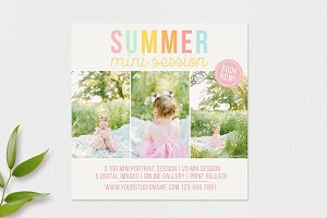 Summer Mini Session Template
