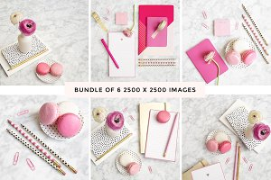 Pink on Marble Flatlay Bundle