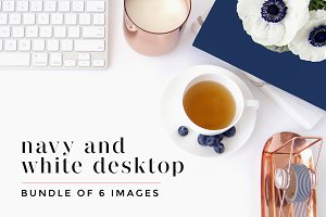 Navy + White Desktop Bundle