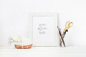 Styled Stock Frame Mockup Craft Sew
