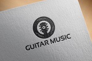 Classic Guitar Music Logo Template