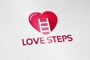 Love Step Logo Designs Template