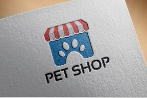 Modern Pet Shop Logo template