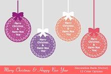Christmas & New year ball (vector)