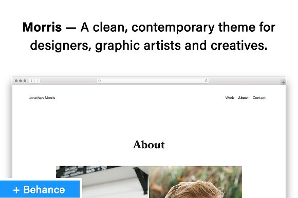 Morris Contemporary Behance Theme