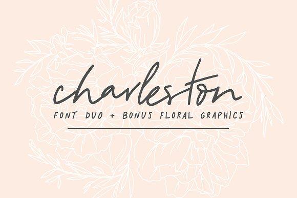 Charleston Font Duo Bonus Floral