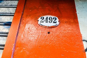 Vintage Door in Orange