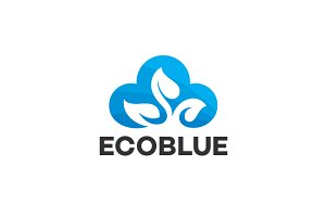 Cloud Eco Logo Template