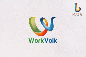 3D Letter W Logo Design Templates