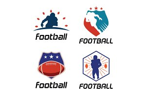 4 American Football Logo Template