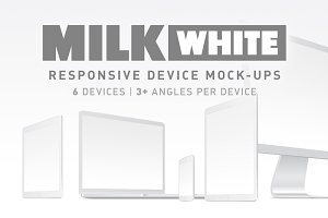 Milk - White Responsive Mockups