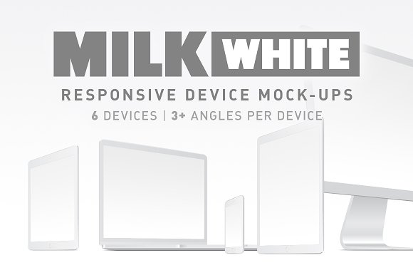 Download Milk - White Responsive Mockups