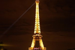 Eiffel Tower illuminating