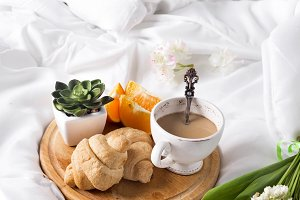 Breakfast in bed Morning