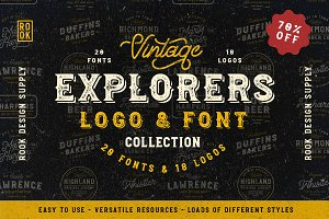 Explorers Logo & Font Collection