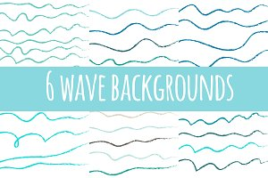 12 Wavy backgrounds