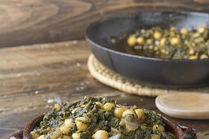 Potaje (chickpeas and spinach)