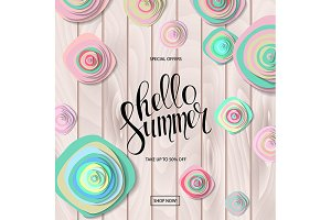 Summer sale background 2 colors