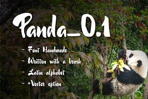60% discount Panda_0.1 Brush Font