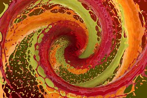 swirl of colored liquid