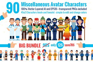 90 Miscellaneous Avatar Characters