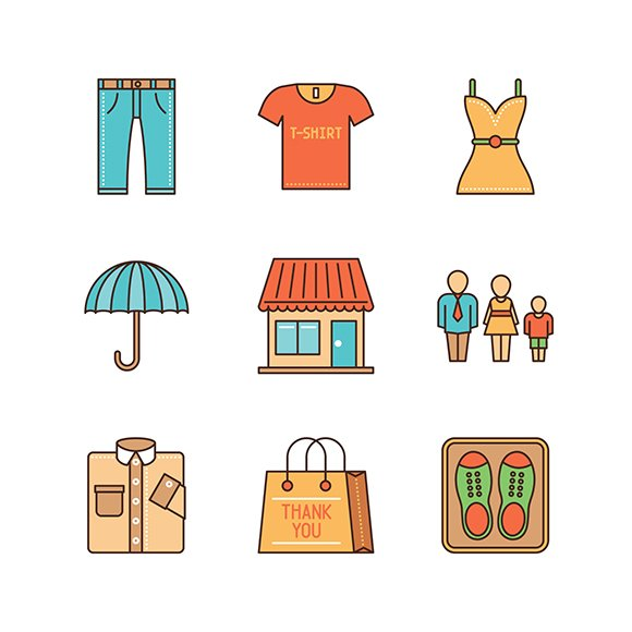 Shopping minimal lineart iconset