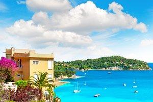 Blue Sky, Azure Sea, French Riviera