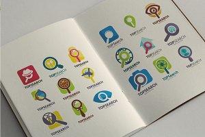 40 Premium Search Logo Set