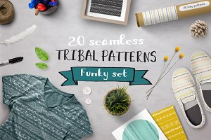 Set of funky patterns