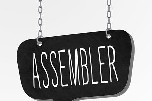 assembler word hanging blackboard