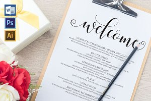 Wedding Itinerary Wpc104