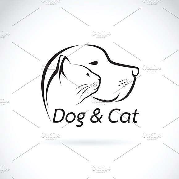 Vector of a dog and cat. Pet.