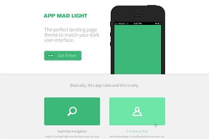 App Mad Light Product PSD