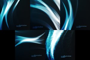 Set of Abstract dynamic background